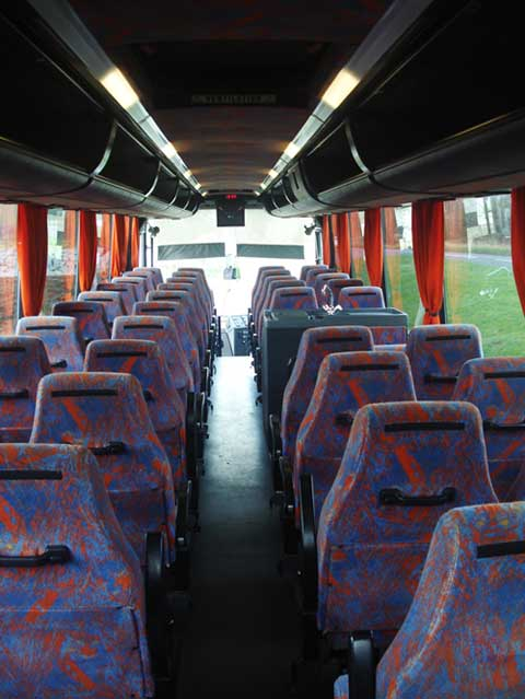 Tyne Valley Coaches, Hexham, Bova Futura Coach interior photo