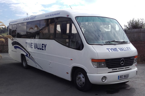 Hexham Coach Hire or Coach Tours in the new addition to our fleet - a 28 seater Mercedes Midi Coach.