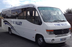 Hexham Coach Tours or Coaches for hire in Hexham and Northumberland in Tyne Valley Coaches Mercedes 28 seater midi coach
